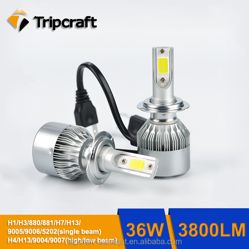 c6 h7 36w led headlight auto parts c6 12v dc all cars led head light bulbs