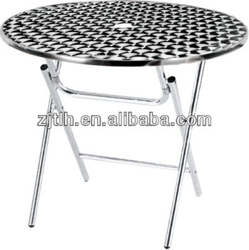 Round Folding Stainless Steel Table