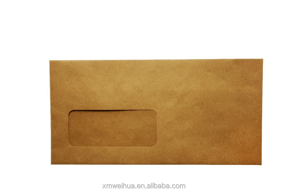 Small size kraft paper window envelope for office