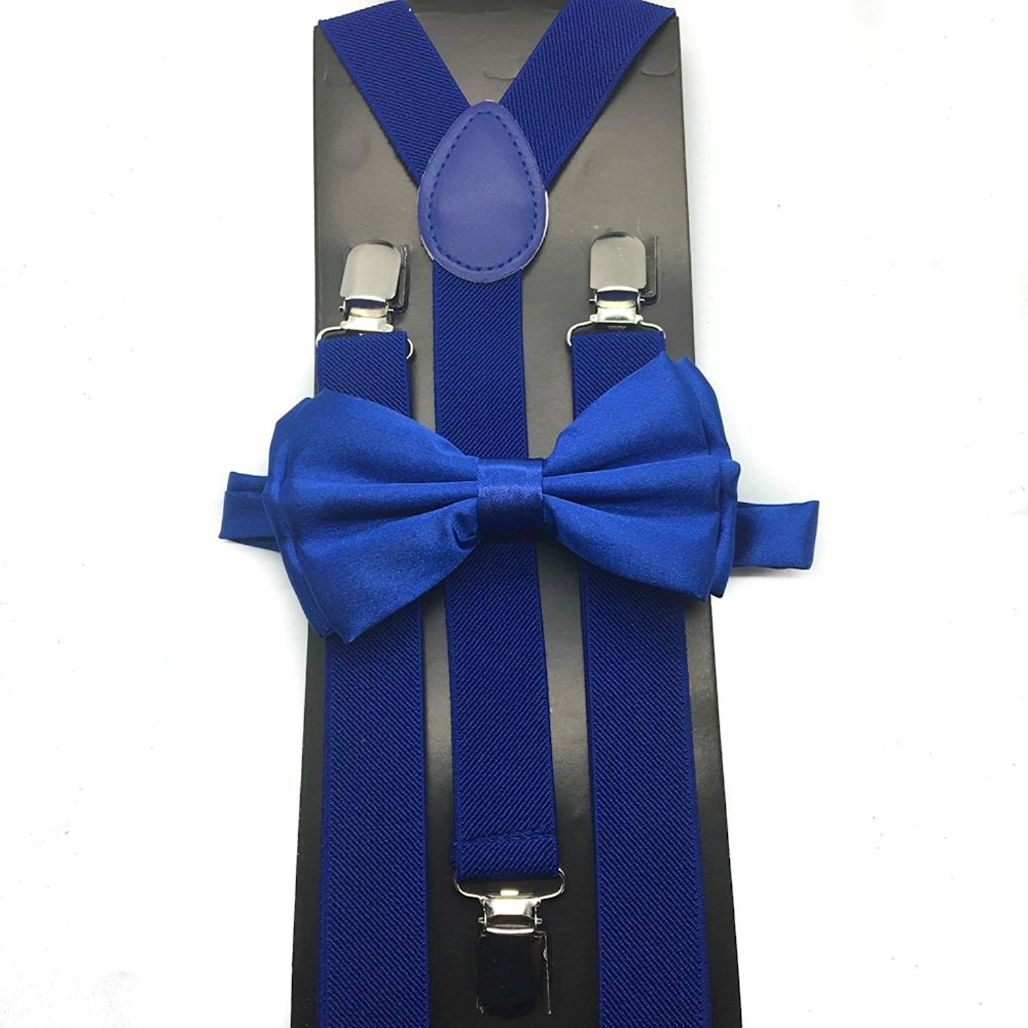 Awesome Royal Blue Wedding Accessories Adjustable Bow Tie & Suspenders