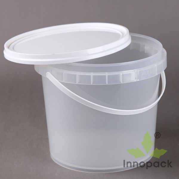 Clear Plastic Container 4 Liters Buckets And Plastic