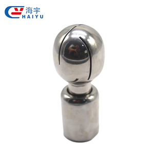 Cleaner threaded bolted rotary stainless steel spray ball