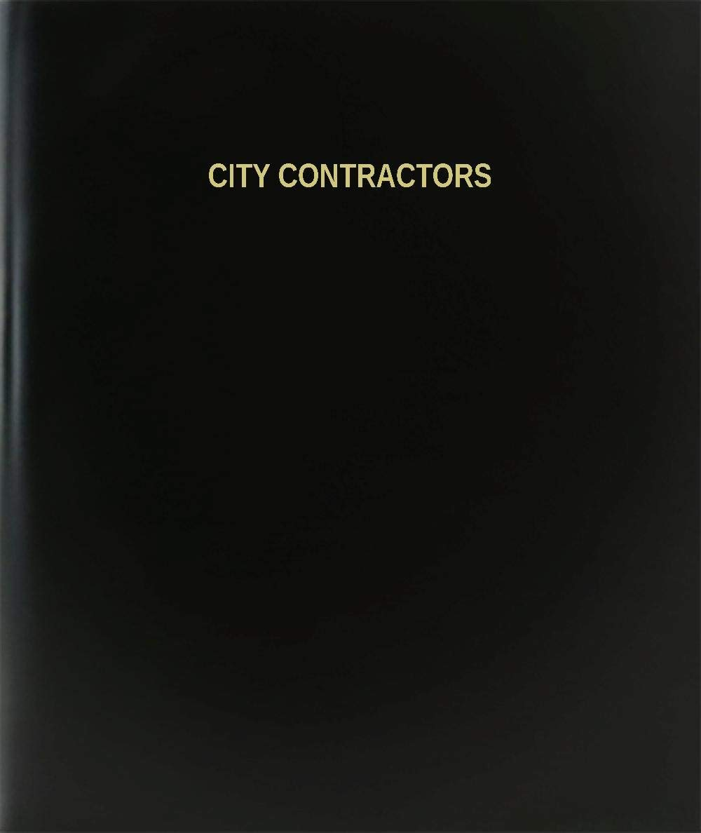 "BookFactory City Contractors Log Book / Journal / Logbook - 120 Page, 8.5""x11"", Black Hardbound (XLog-120-7CS-A-L-Black(City Contractors Log Book))"