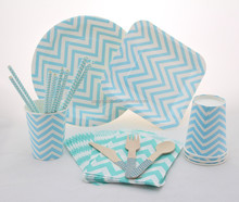 Hot Sell Blue Chevron Theme Party Products Supplier & Factory