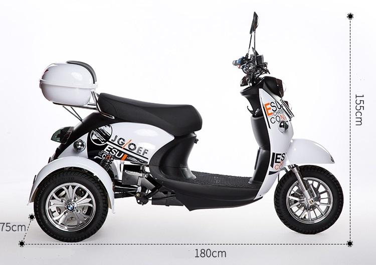 Cacat Skuter 3 Roda Sepeda Roda Tiga 1000W 500W Listrik Dewasa Sepeda Roda Tiga