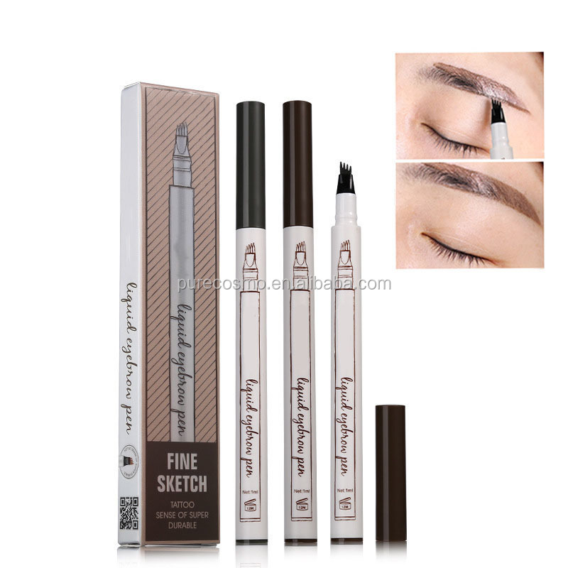 Wholesale Eyebrow Tattoo Tips Long Lasting Permanent Liquid Waterproof Private Label Eyebrow Pencil