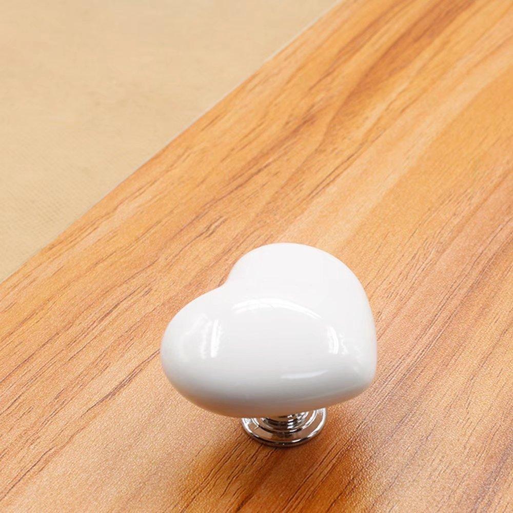 Porcelain Drawer Knobs Dresser Knobs Furniture Hardware Cabinet Dresser Knob Pull Handles for Home Office DIY CSKB 7 Pcs 55mm Bird Shape Ceramic Knob