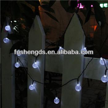 Smart solar outdoor string lights white 30 led crystal ball solar smart solar outdoor string lights white 30 led crystal ball solar powered globe fairy light for aloadofball Images