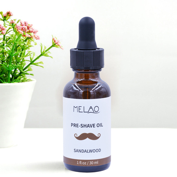Wholesale Private label Best Sandalwood for Effortless Smooth Irritation-free Beard Pre-Shave Oil