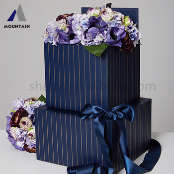 Economic Flower Gift Box Large Custom Printed Cardboard Packaging Round Hat For Sale
