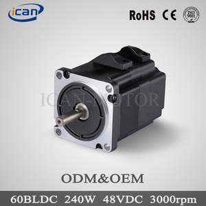 easy use high torque 250w brushless dc motor