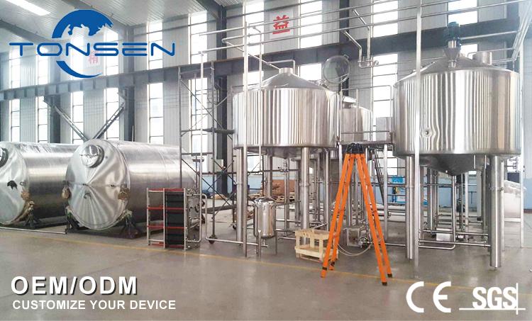 Verarbeitung rot kupfer brauerei ausrüstung/wasserkocher/fermentern für bier