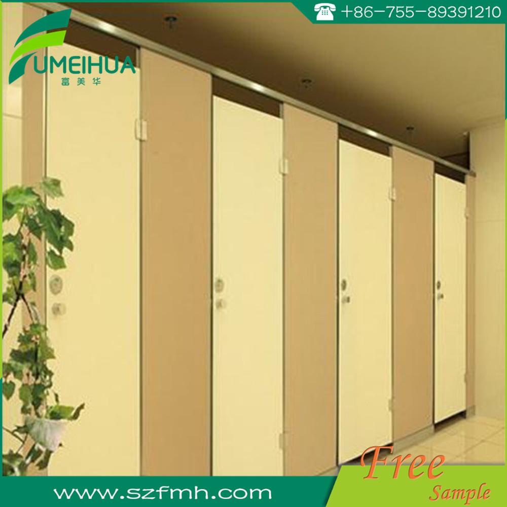 Fumihua hpl laminaat veranderende kamer cubicle partitie toiletruimte deur decoratieve hogedruk - Partition kamer ...