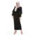 Professional Factory Supply Middle East Black Soft Crepe Wedding Work Denim Dresses For Women Hand Embroidery Muslim Dress