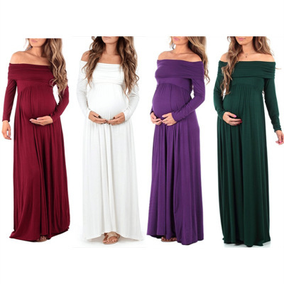 <strong>Maternity</strong> Maxi <strong>Dresses</strong> 2018 <strong>Maternity</strong> Photography Props Chiffon Vestidos Off Shoulders Maxi Pregnant <strong>Dress</strong> Pregnancy Photo Shoot