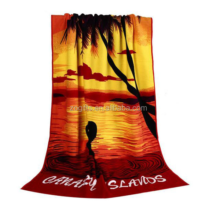 ZOGIFT Factory Produce Cotton Beach Towel with Printed Logo