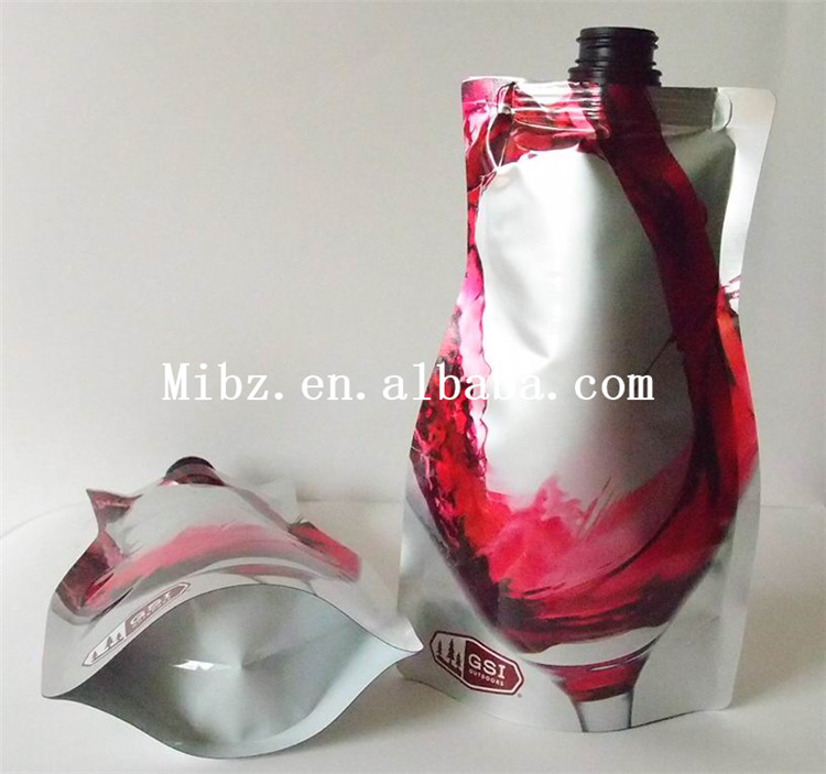 Standard Plastic Liquid Stand up pouch with spout for Watter/Juice/Jelly/Energy Drinks/Wine Packaging