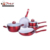 Masterclass Premium Cookware Forged Red Kitchen Appliance Ceramic Cookware Set