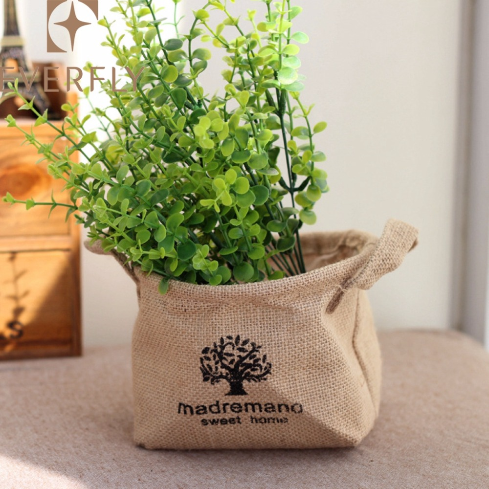brown jute wedding floral pot covers for decoration