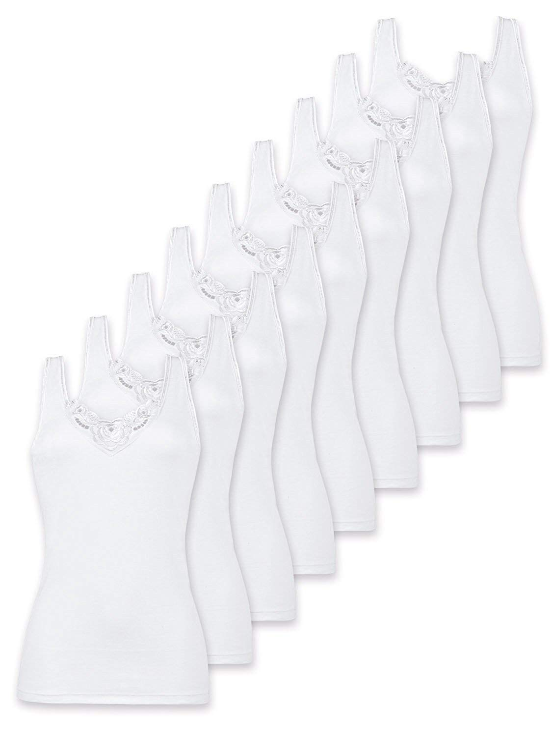 Naturana Pack Of 9 Women's Cotton Camisole 2501