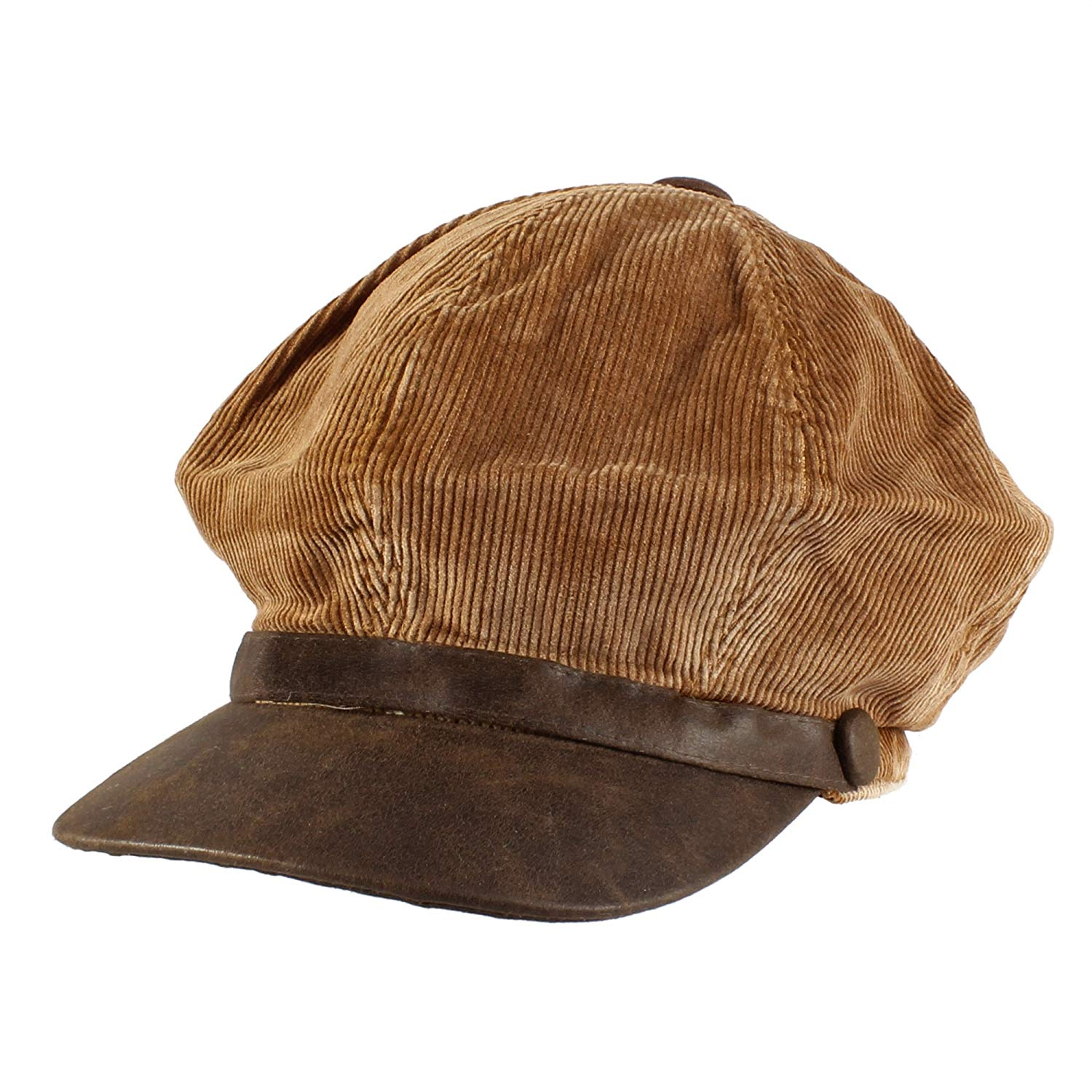 Get Quotations · Morehats Cotton Corduroy Flat Cap Cabbie Hat Gatsby Ivy  Irish Hunting Newsboy Hunting Beret - Brown 480ea62ef5e9