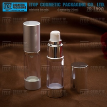 ZB-LA wholesale AS/SAN plastic cosmetic packaging 15ml 20ml 30ml clear plastic lotion pump bottle spray container
