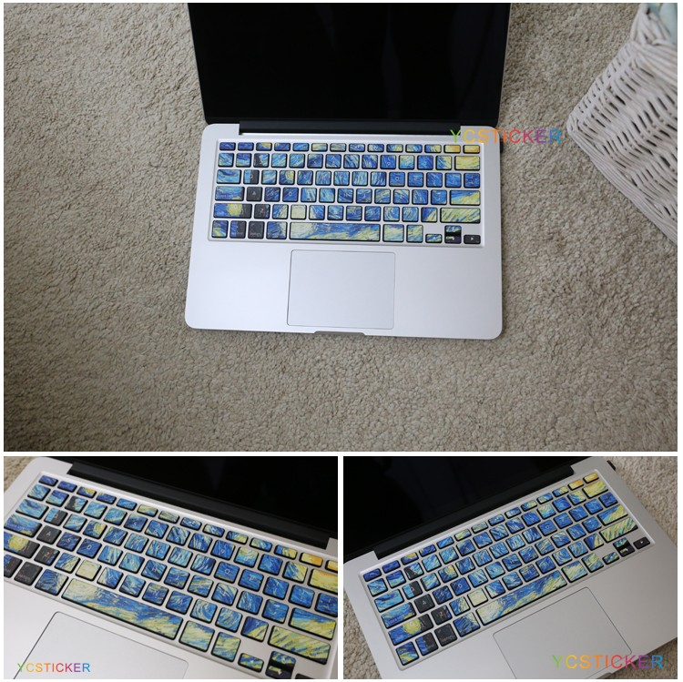 Wholesale Decorative Decals Stickers for MacBook Keyboard Sticker for Laptop Decal