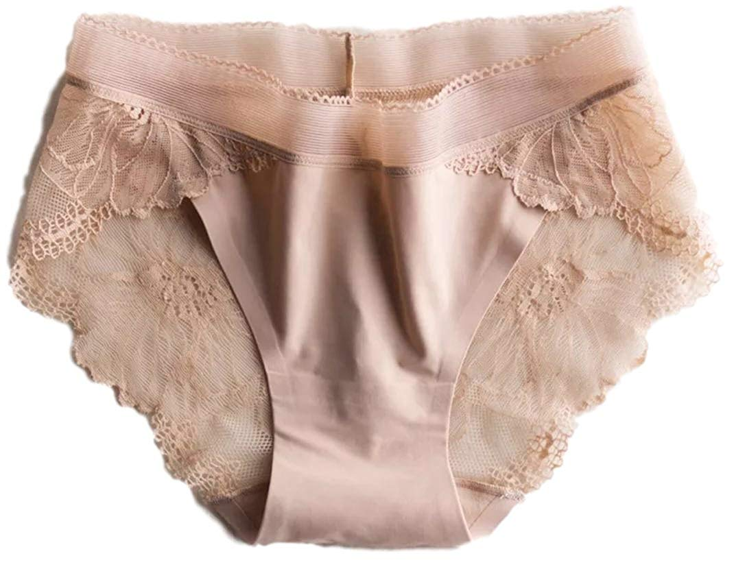 244f507330a6 Get Quotations · Secret Show 4 Pairs Women's Floral Sexy Lace Panties Silky  No Visible Line Underwear