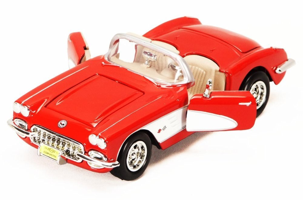 1959 Chevy Corvette Convertible, Red - Showcasts 73216 - 1/24 Scale Diecast Model Car