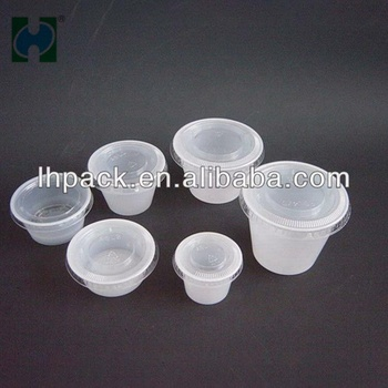 Food Grade Ps Base And Pet Lid Material Disposable White Plastic Cups