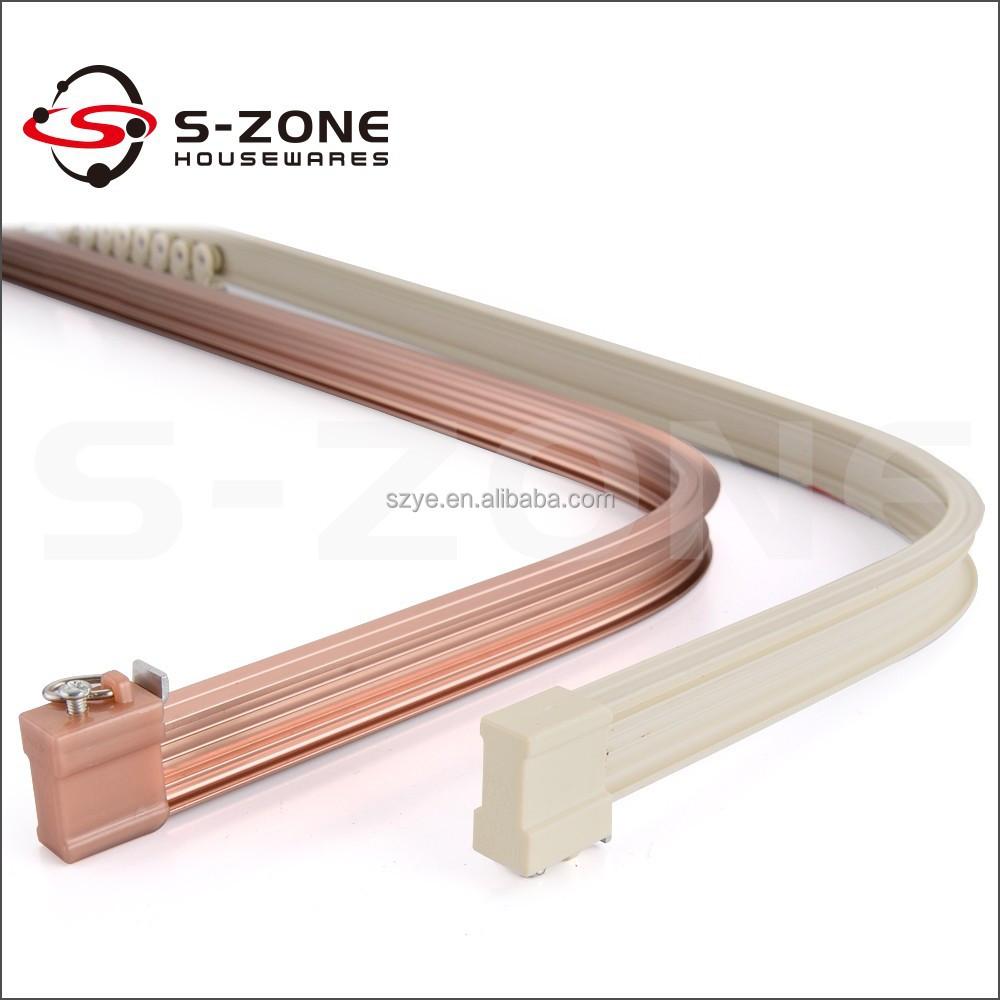 Hot koop elektroforese aluminium gebogen gordijn rail gordijnrails ...