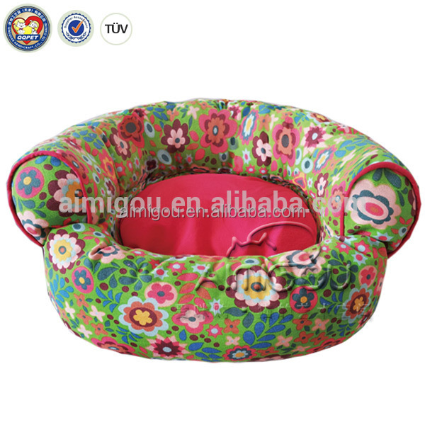 2016 aimigou cheap price Pet Accessories many kinds Wholesale Designer 100% Polyester Bamboo Dog Bed