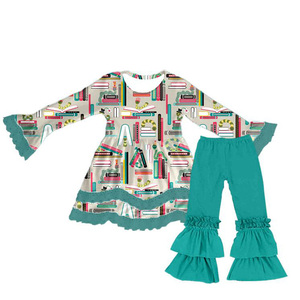 New Style Fashion Baby Kids Autumn Clothing Design Wear Long Sleeve Casual Children Wear Set