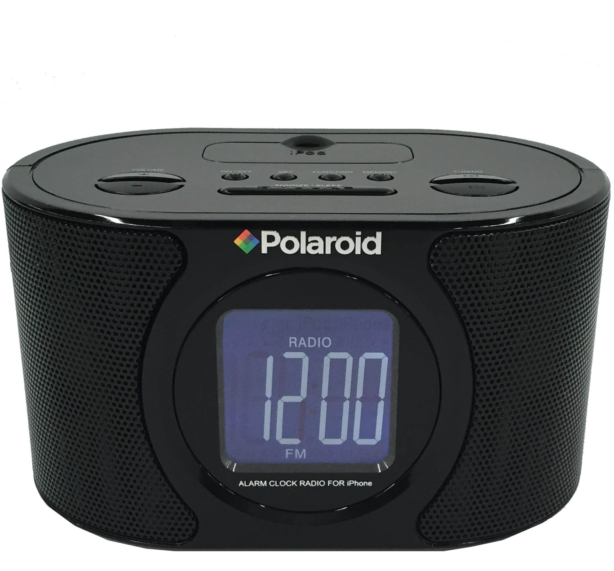 Polaroid IPB-117 Alarm Clock AM/FM Radio with 30-Pin iPhone/iPod Docking Station