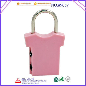 factory supplier cheap cute tsa combination padlock