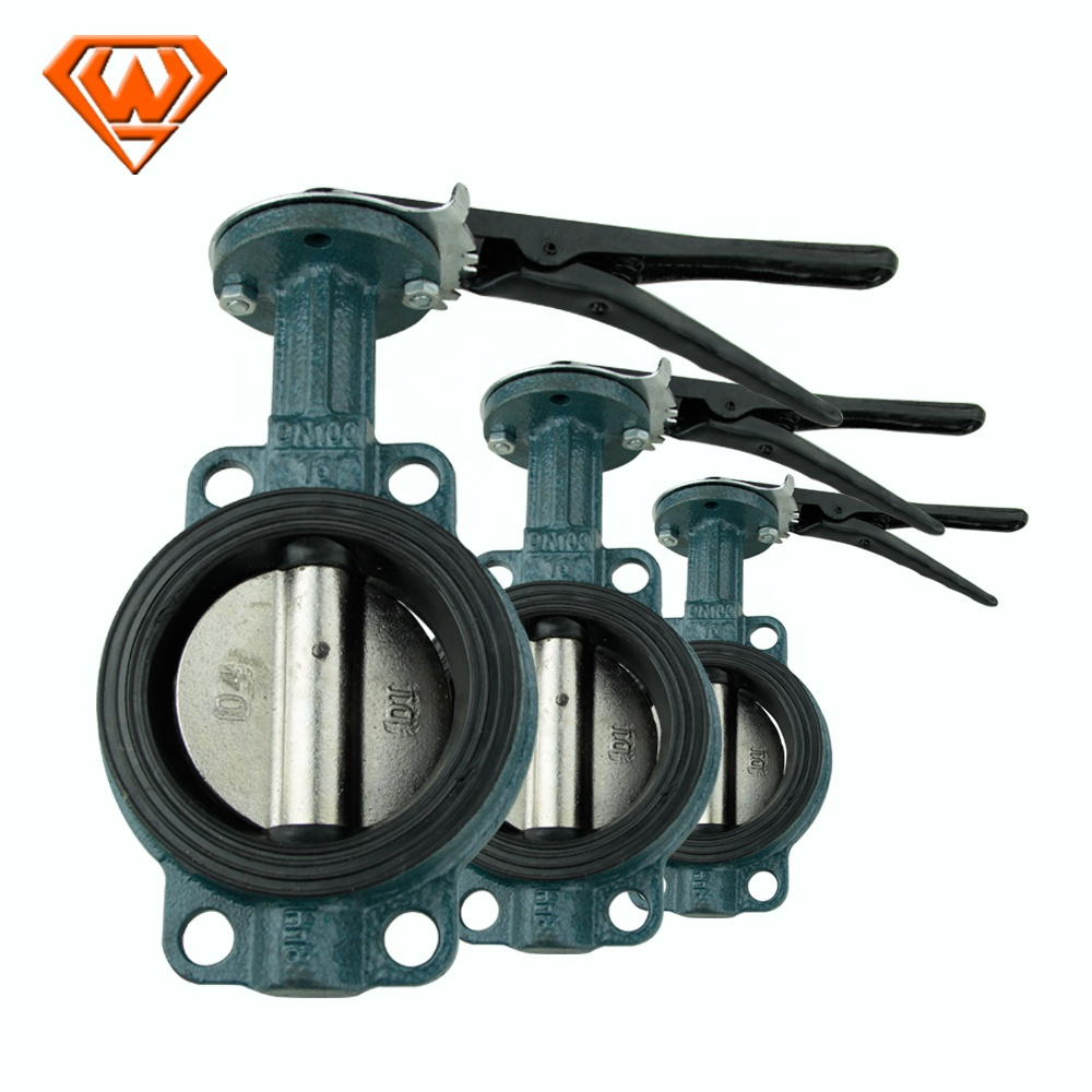 "100% Disegel Test Wafer Type 4 ""6"" Butterfly Valve Stainless Steel Pabrik Harga Butterfly Valve"