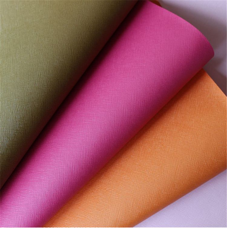 wholesale faux leather fabric microfiber embossed leather for mobile phone case notebook covers