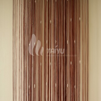 Brown Beaded Ribbon Curtains For Bedroom - Buy Curtains,Curtains ...