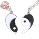 sterling silver Yin Yang Necklaces For Couples Yin And Yang Necklace For Best Friends