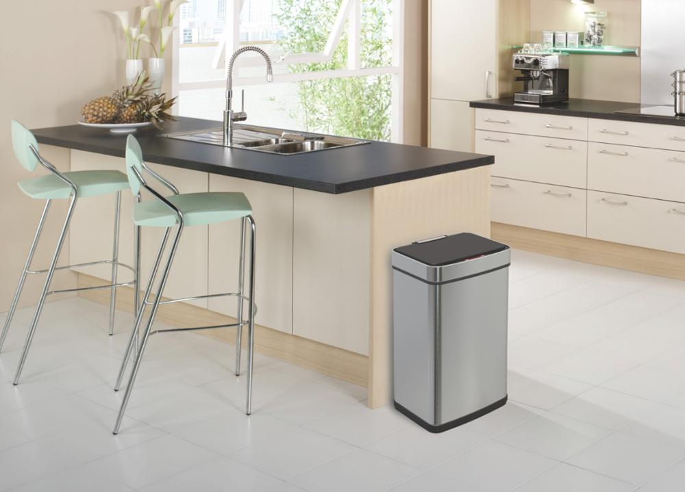 kitchen 60L gray mobile sensor trash bin