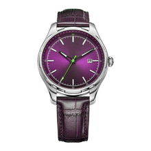 Watches with chinese movement SL68, vintage watches women with leather strap