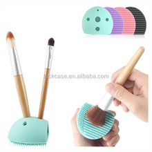 2017 Summer hot selling BPA free silicone makeup pen brush cleaning tools with jacks