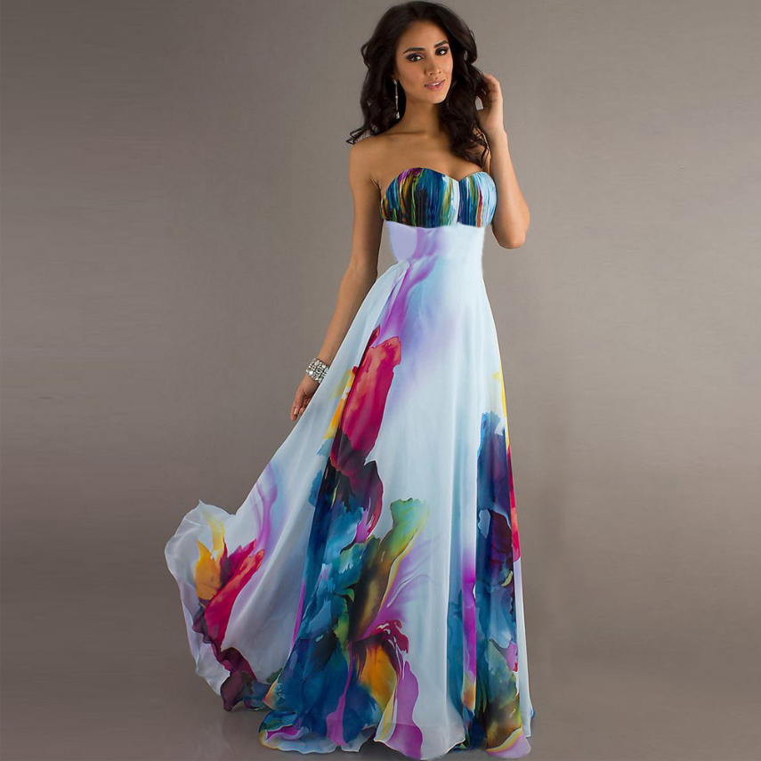 Dresses To Wear To A Summer Wedding: 2016 Summer Sexy Party Maxi Dresses Womens Long Ladies