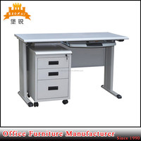Metal steel office furniture computer table desk with locking drawers