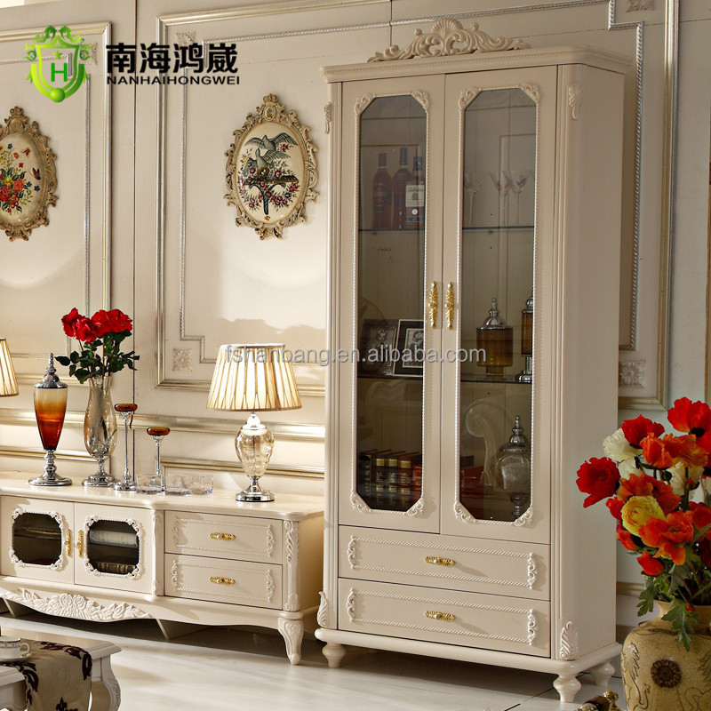 Classical French Furniture Design One Two Doors Living Room Wooden
