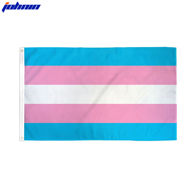 Wholesale 3x5 FT Bright Color Double Sided Pink Blue Transgender Flag