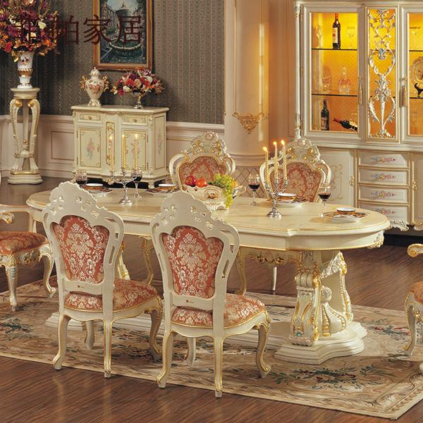 Muebles de madera maciza comedor clasicos tallado a mano mesa ...
