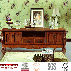 GSP9-057 Malaysia TV Cabinet Design With Showcase 2016