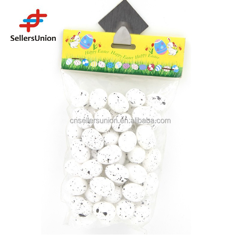 No.1 Yiwu Agent!!! 2015 Hotselling Handcraft 100pc mini white Easter eggs with stick for Easter Decoration