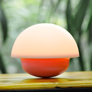 7 Color Tumbler Mushroom Design Night Light Baby Nursery, Wireless Night Light for Kids Room, LED Nite Lite 1200mA Battery